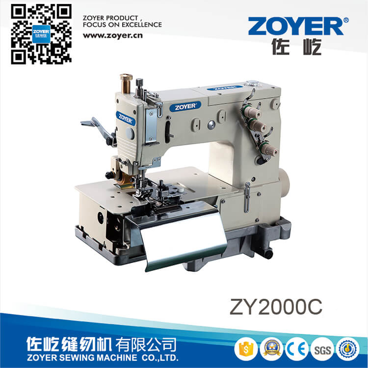 ZY2000C Zoyer Double needle flat-bed making belt loop with front fabric cutter (the width of belt loop)