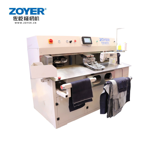 ZY9000TDB Automatic CNC Attaching Pocket Sewing Machine
